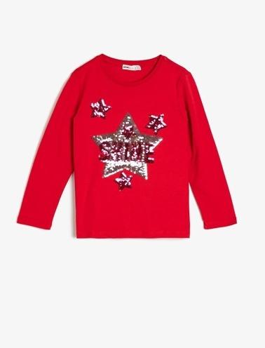 Koton Kids Pul Detayli T-Shirt Kırmızı